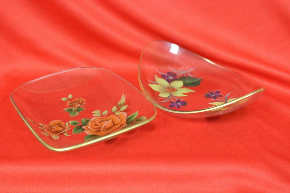 Lot of Two Glass Trays