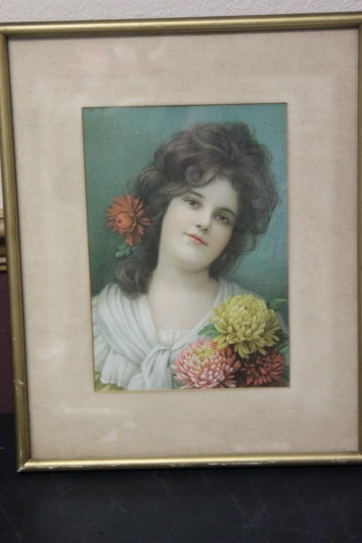An Antique Victorian Print of a Girl