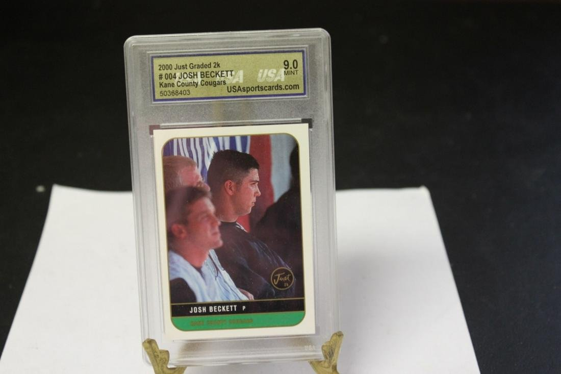 A Graded Josh Beckett Baseball Card