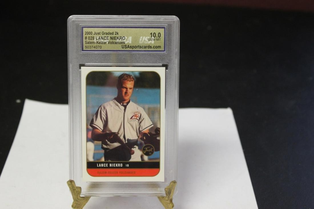 A Graded Lance Niekro Baseball Card