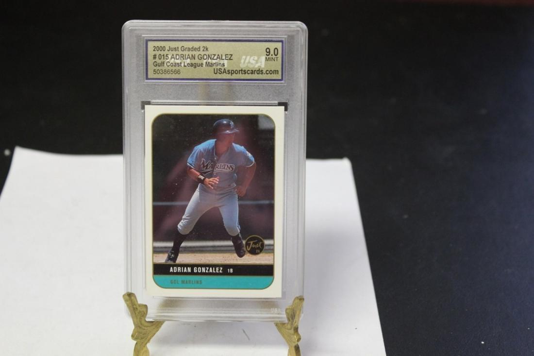 A Graded Adrian Gonzalez Rookie(?) Baseball Card