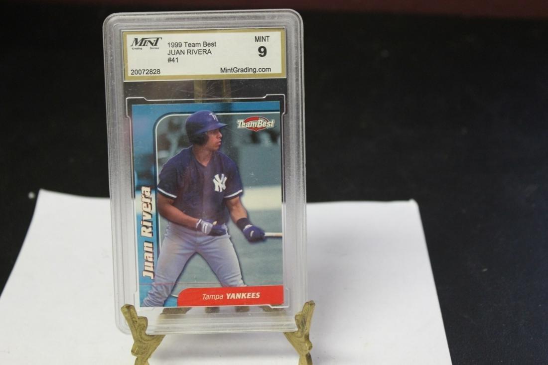A Graded Juan Rivera Rookie(?) Baseball Card