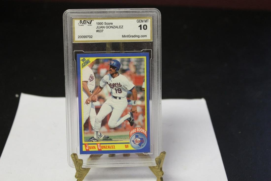 A Graded Juan Gonzalez 1990 Rookie Card