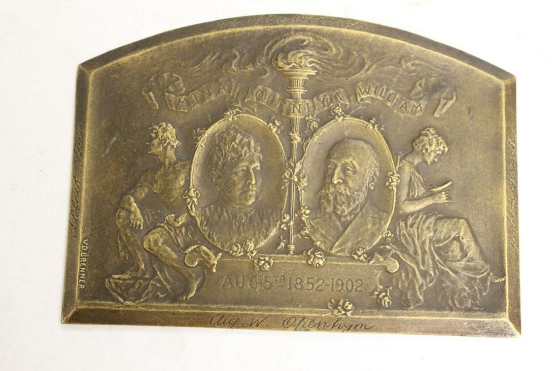 A Bronze Plaque