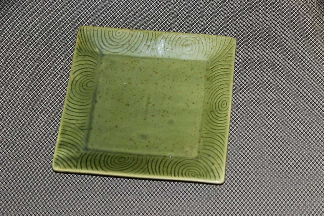 An Art Ceramic Square Plate