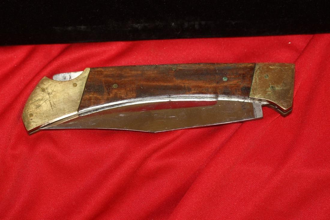 A Wooden Handle Large Pocket Knife