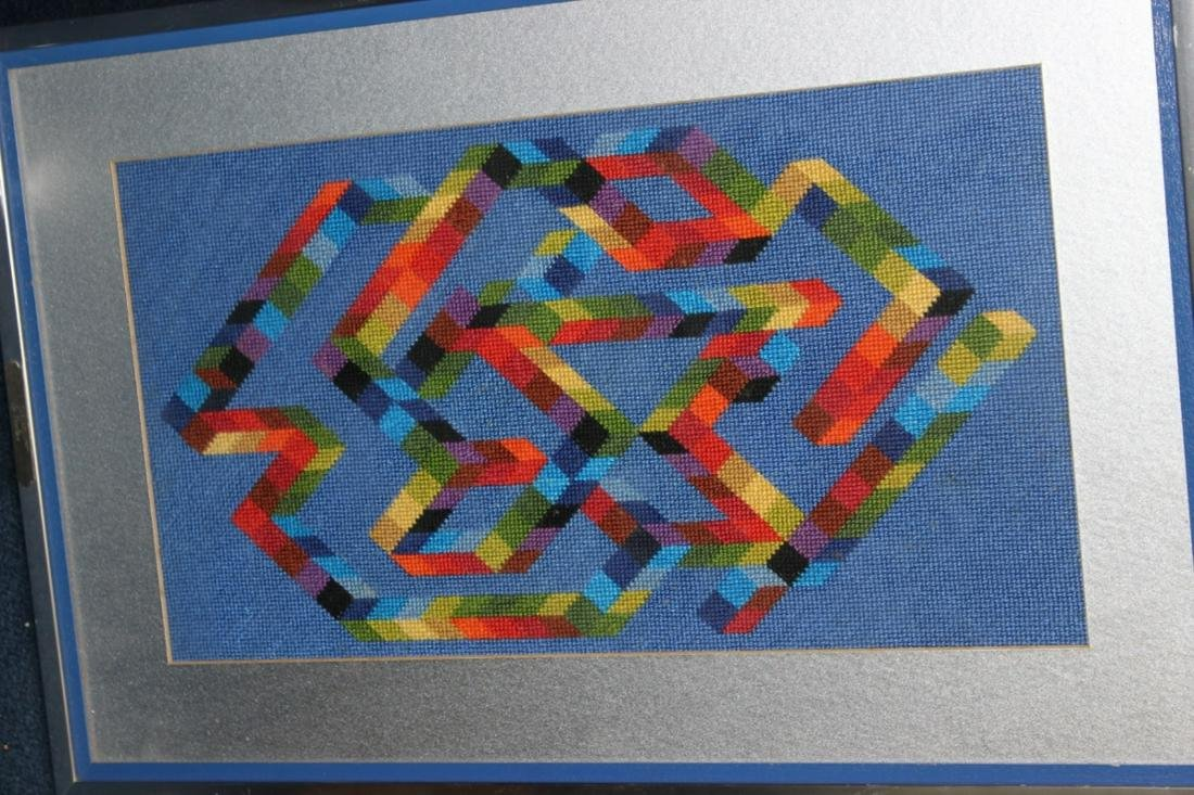 An Abstract Needle Point After Vasarely