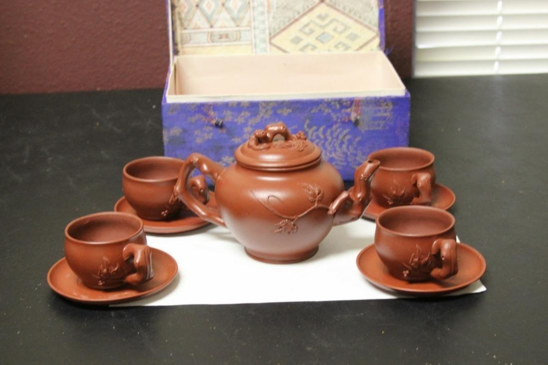 A Yixing Teapot Set