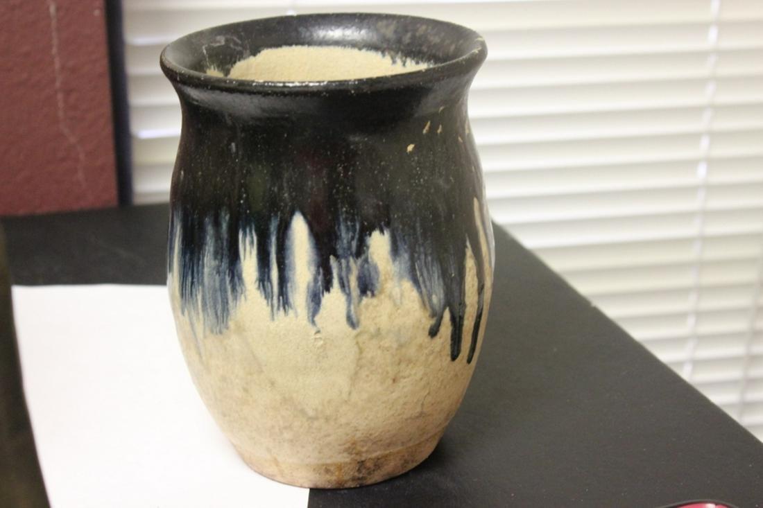 A Drip Glazed Pottery Vase