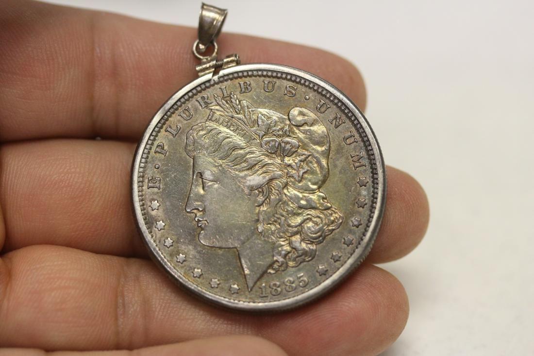 A Toned 1885 Morgan Silver Dollar