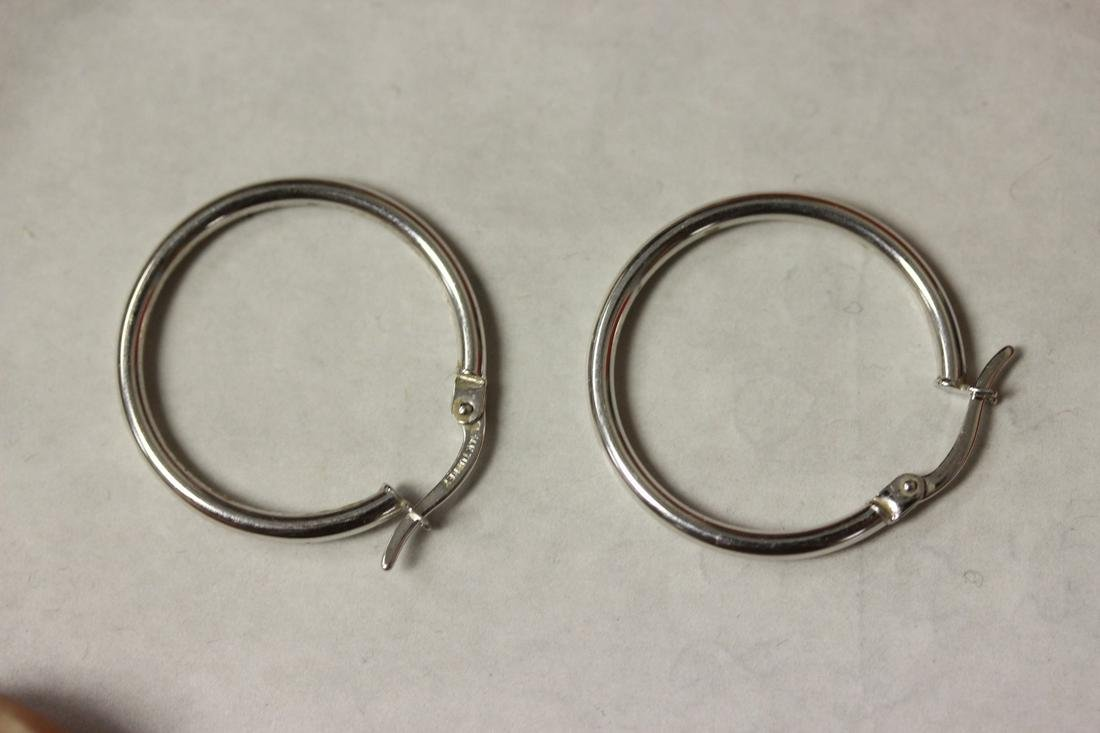 Pair of 14 Karat Gold Hoop Earrings