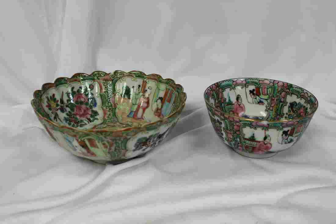 Lot of Two Chinese Rosemedallion Bowls