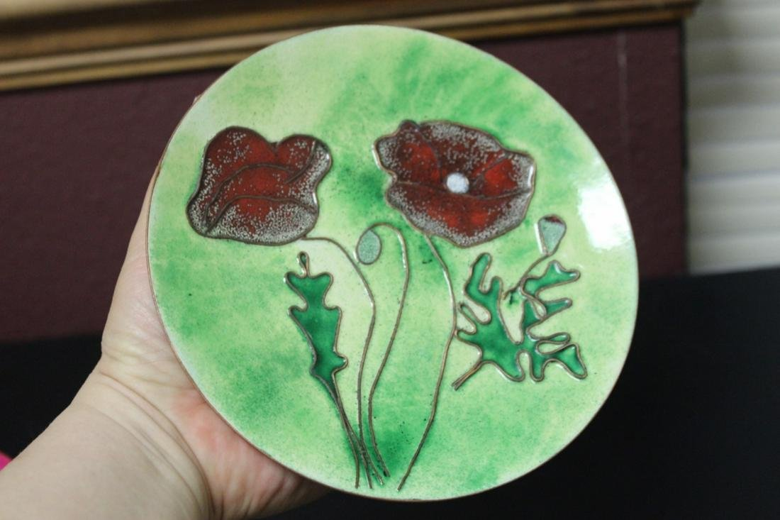 An Enamel on Copper Plate