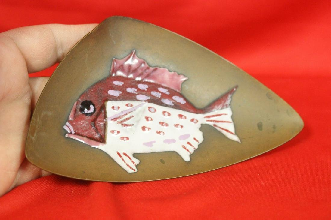 A Japanese Ando Enamel on Copper Plate