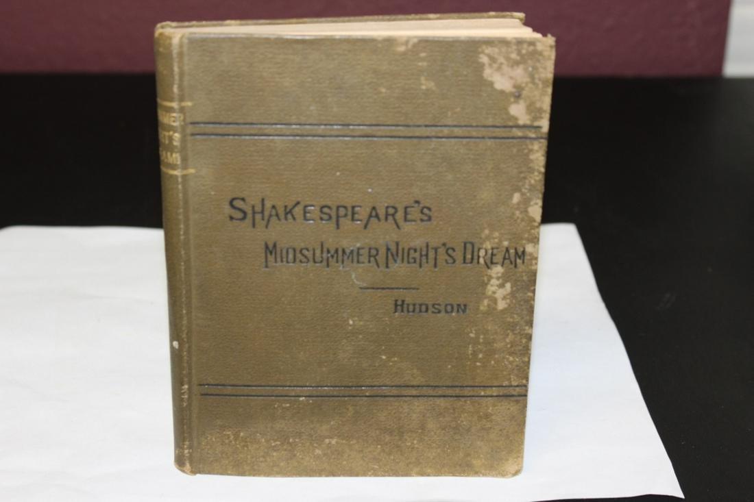 A Shakespeare's Midsummer Night's Dream Book by Hudson