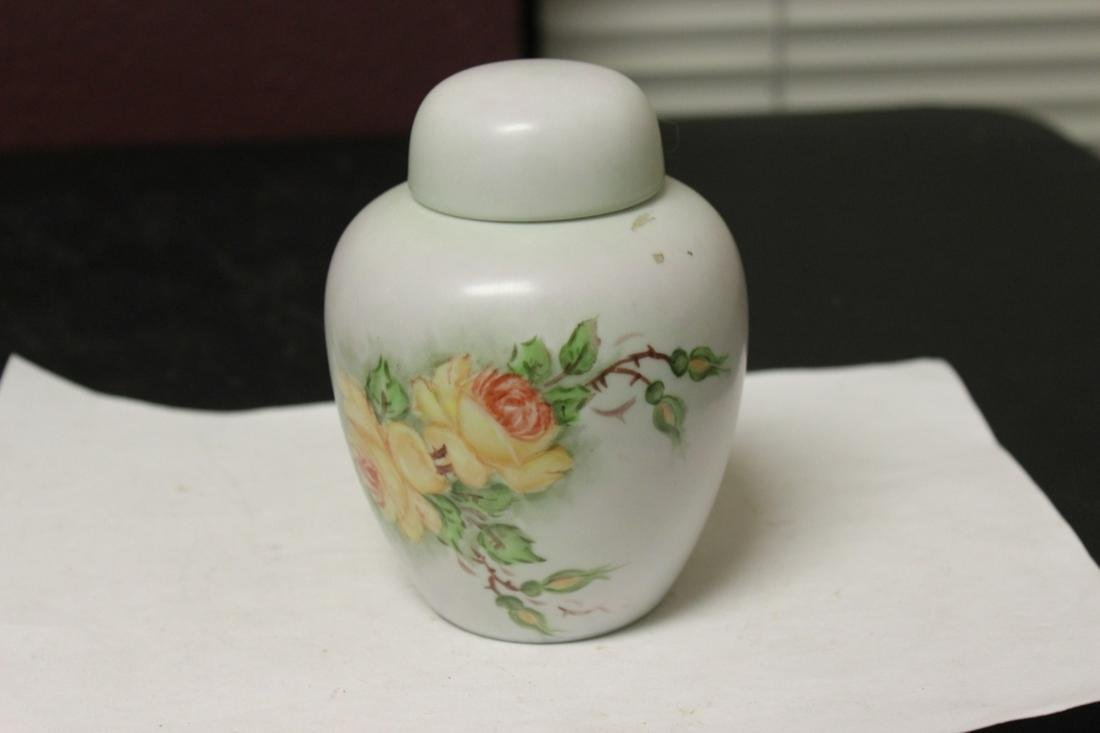 A Ceramic Porcelain Hand Painted Lidded Jar