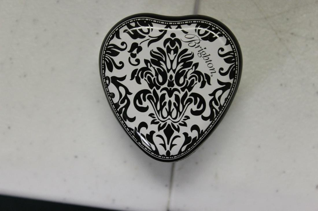 A Brighton Heart Shape Metal Jewelry Box