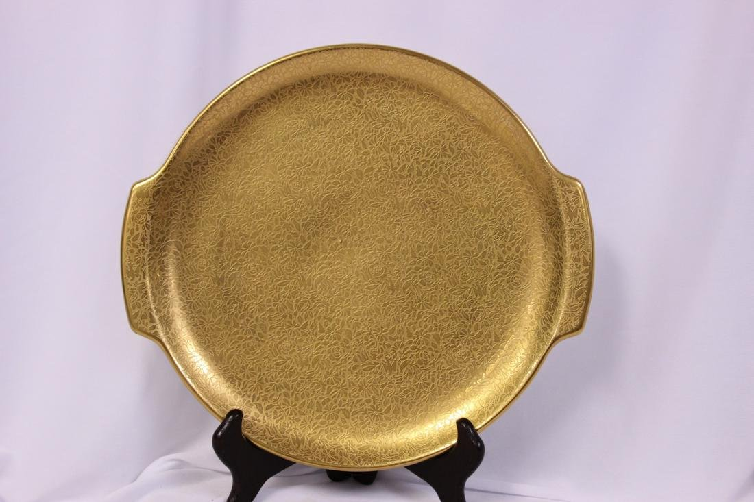 A Gold Porcelain Platter