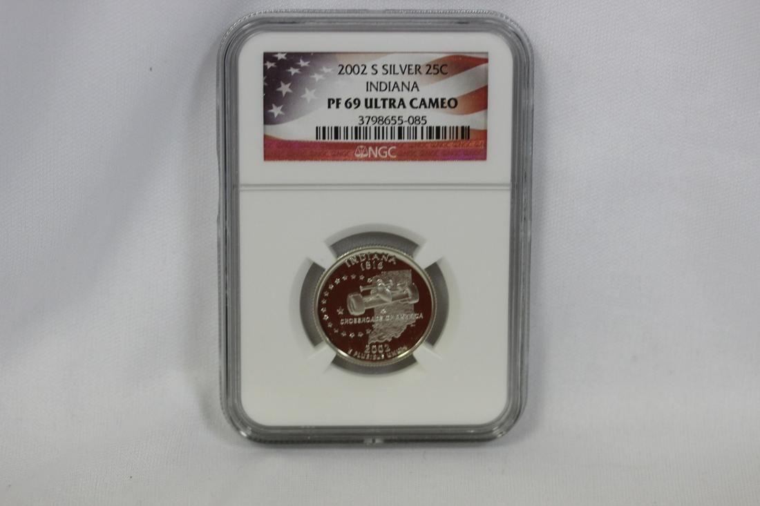 An NGC Graded  Silver Quarter