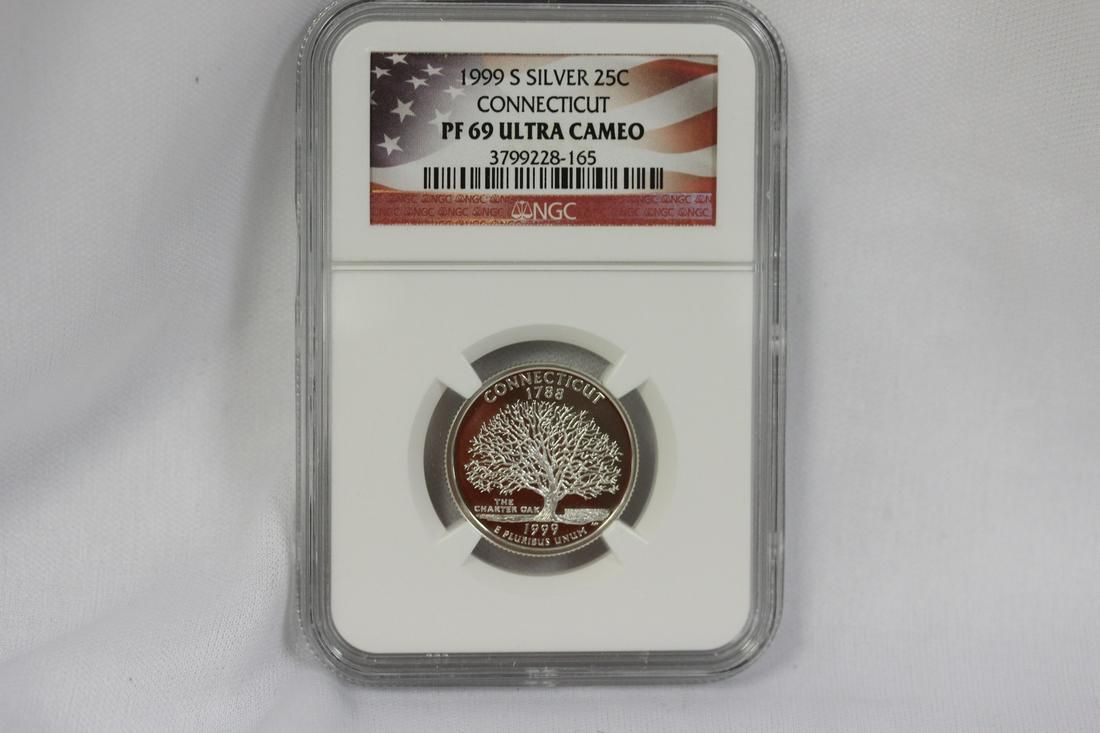 An NGC Graded  Silver Quarter