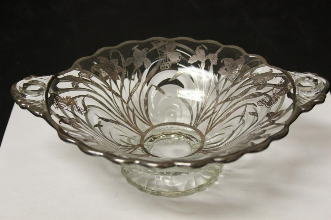 A Sterling Silver Overlay Bowl