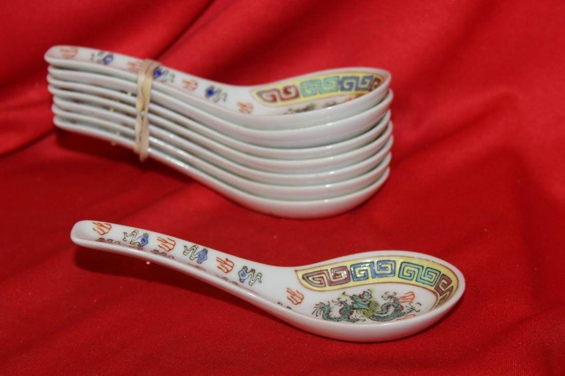 Lot of 8 Porcelain Spoons