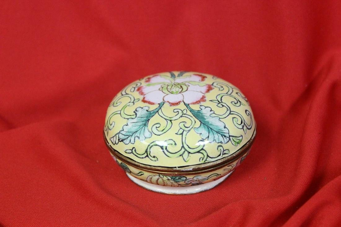 A Chinese Enamel Trinket Box