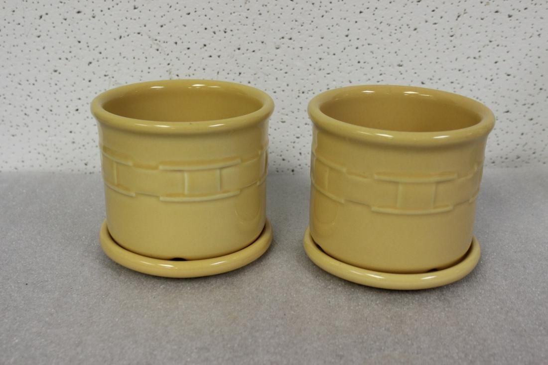 Pair of Longaberger Pottery Jar