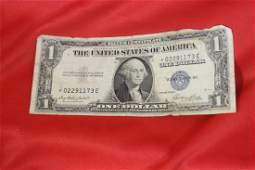 A Star Note  One Dollar Blue Seal