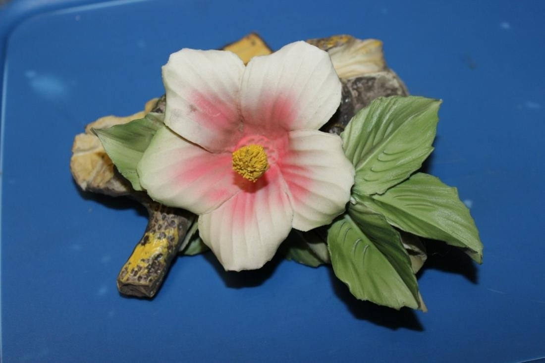 A Capodimonte Flower on Branch/Wood