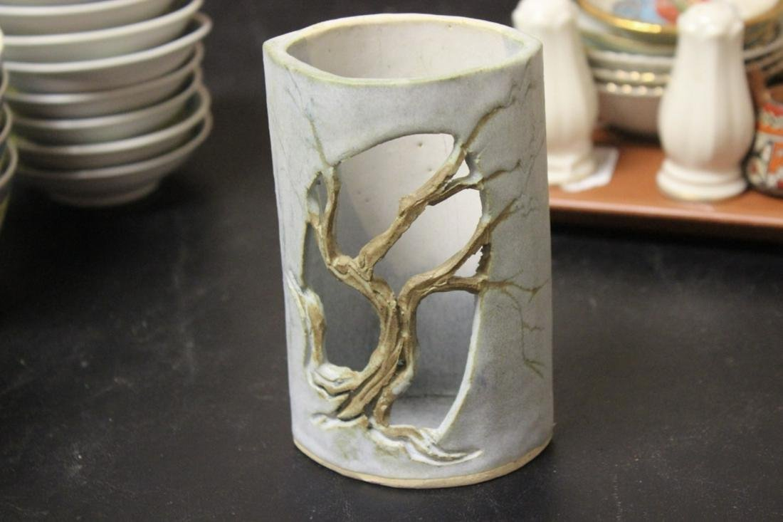 An Art Pottery Signed Walton holder
