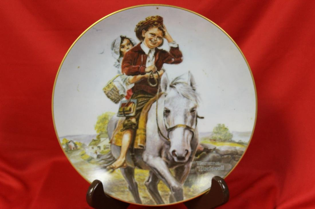 A Norman Rockwell Horse Collector's Plate