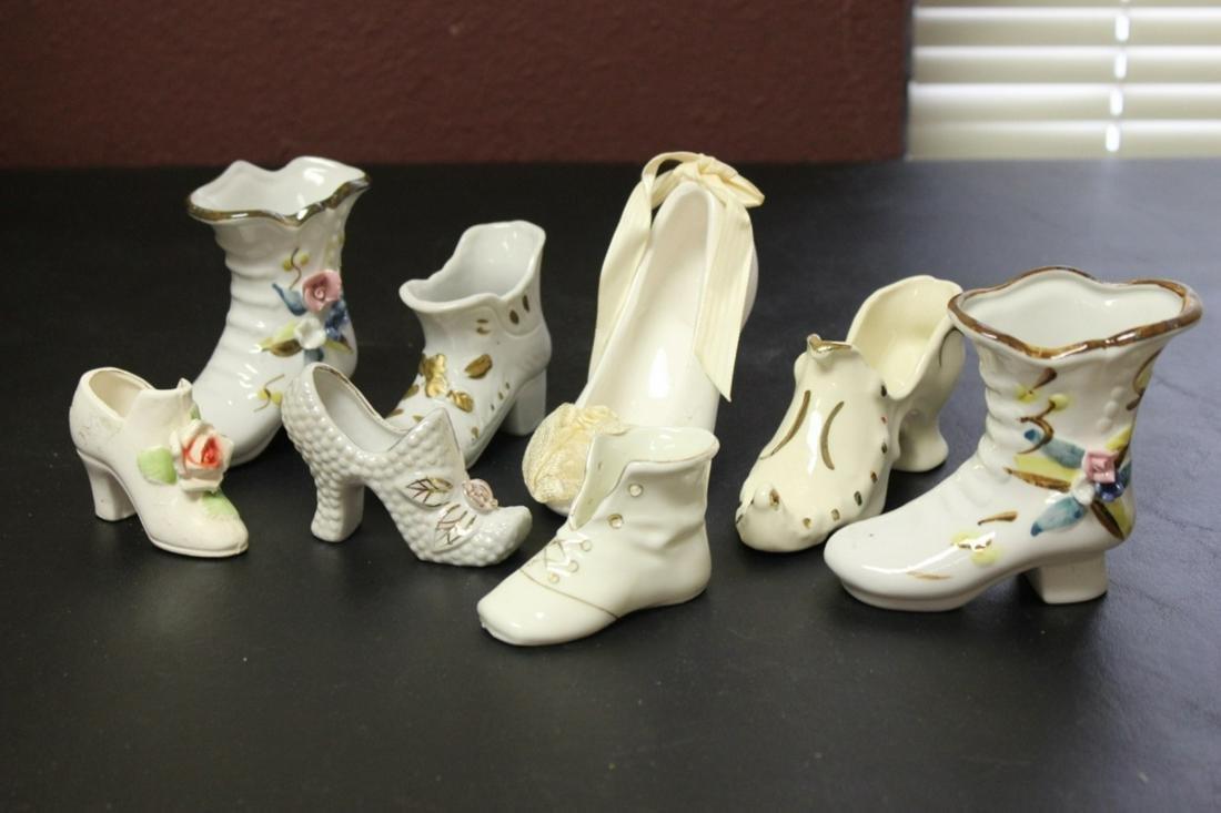 Lot of 8 Vintage Porcelain Shoes