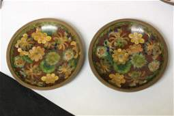 A Set of 2 Chinese Cloisonne Small Sauce Dishes
