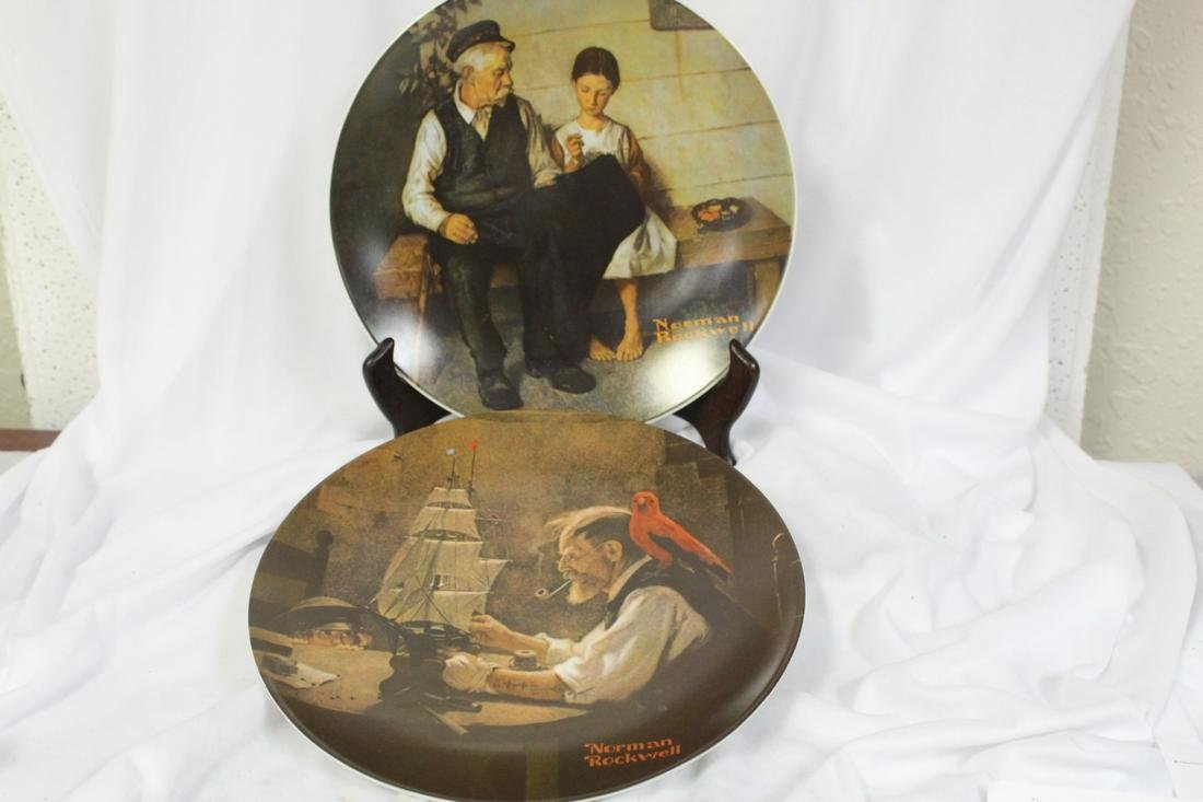 Lot of Two Norman Rockwell Collectors Plate