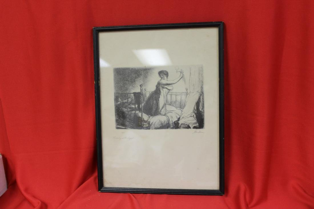 A Print of an Etching John Sloan