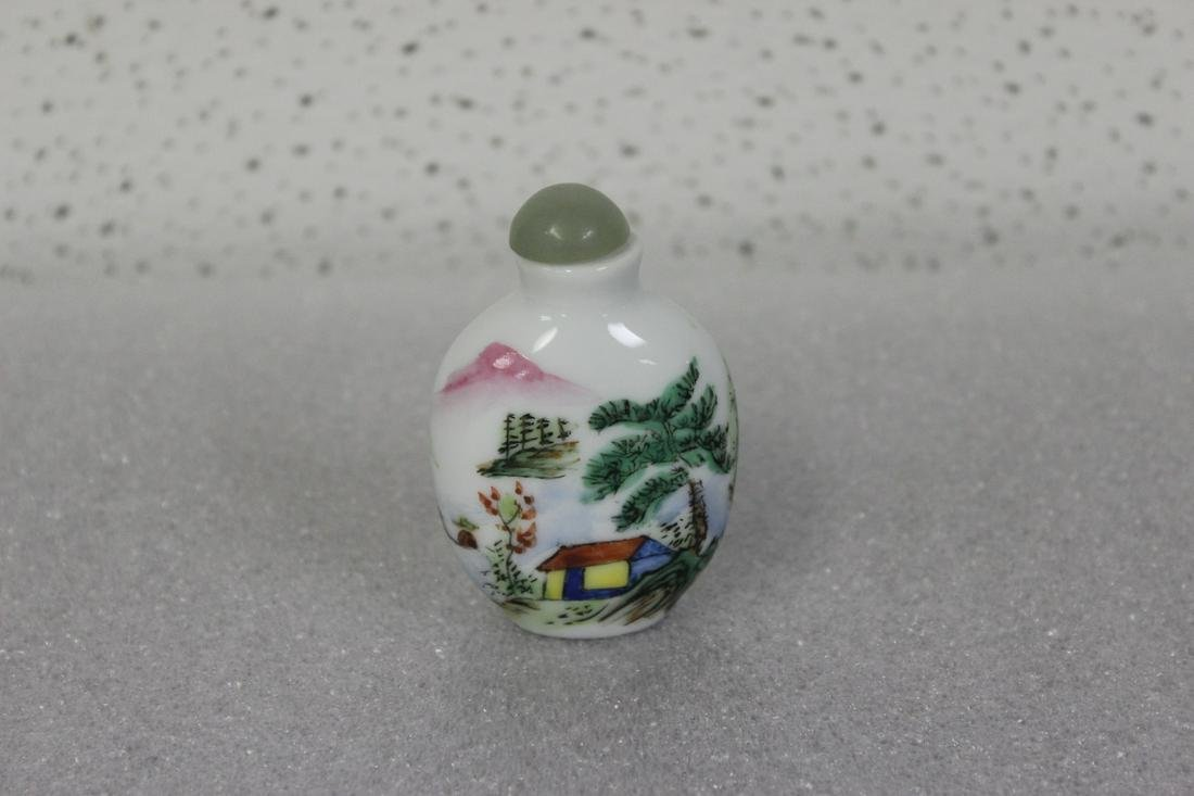A Chinese Vintage Porcelain Snuff Bottle