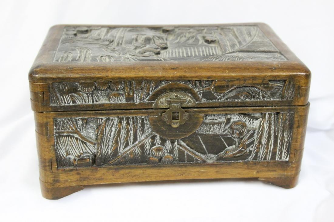 An Antique/Vintage Chinese Cedar Wood Box