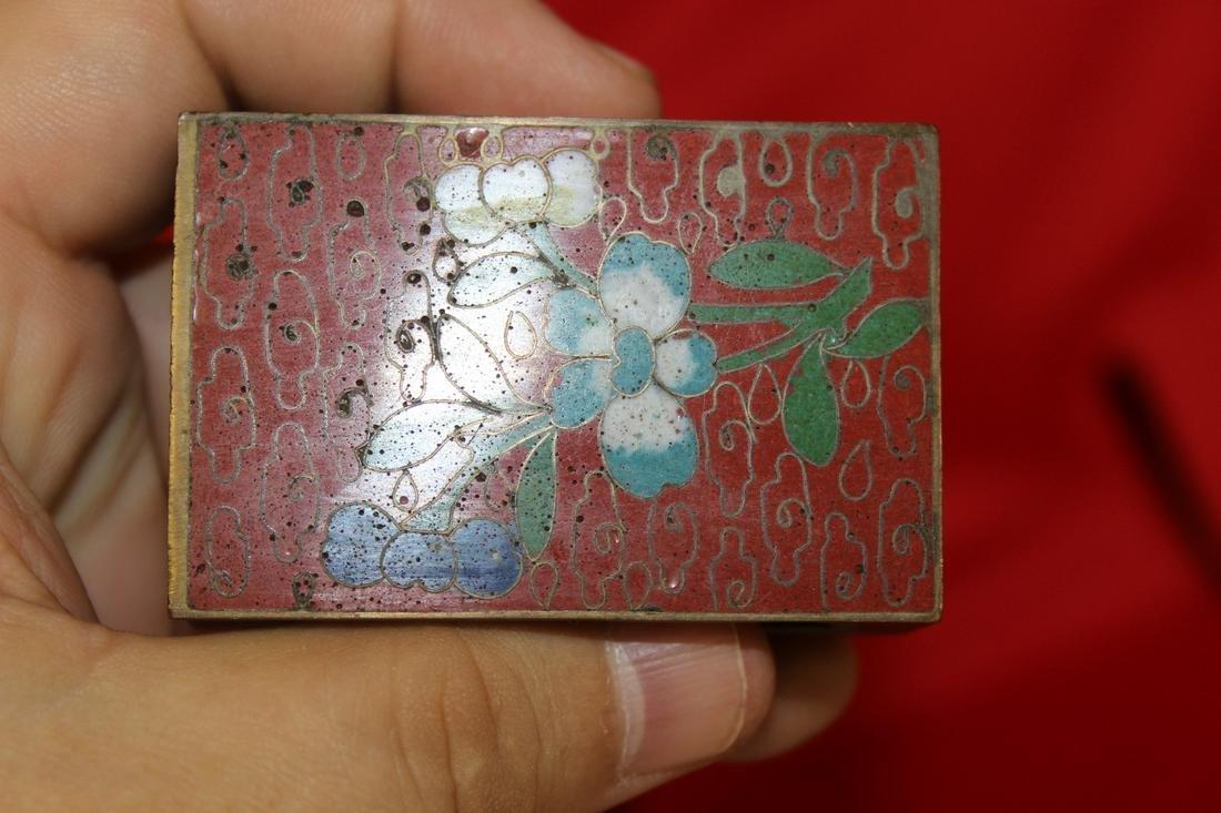 A Chinese Cloisonne Matchbox Holder