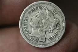 An 1866 3 Cent Piece