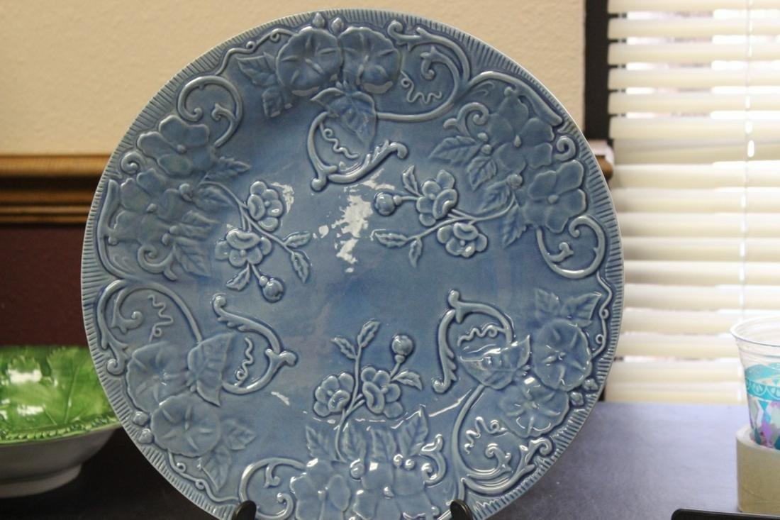 A Majolica Style Plate by Bordallo Pinneiro