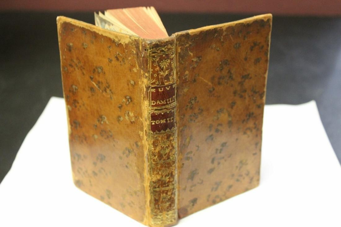 1777 Leather Bound Book - Memoires du Comte de Grammont