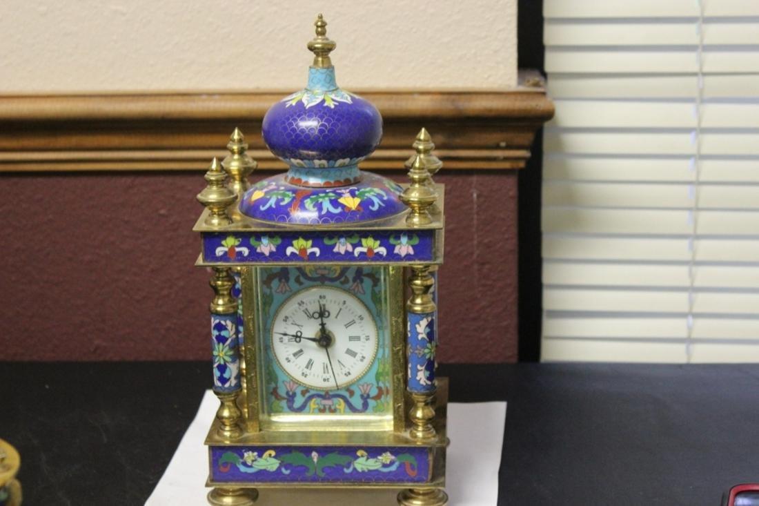 A Chinese Quartz Cloisonne Clock