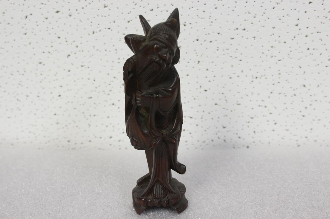 A Vintage Chinese Wooden Figure