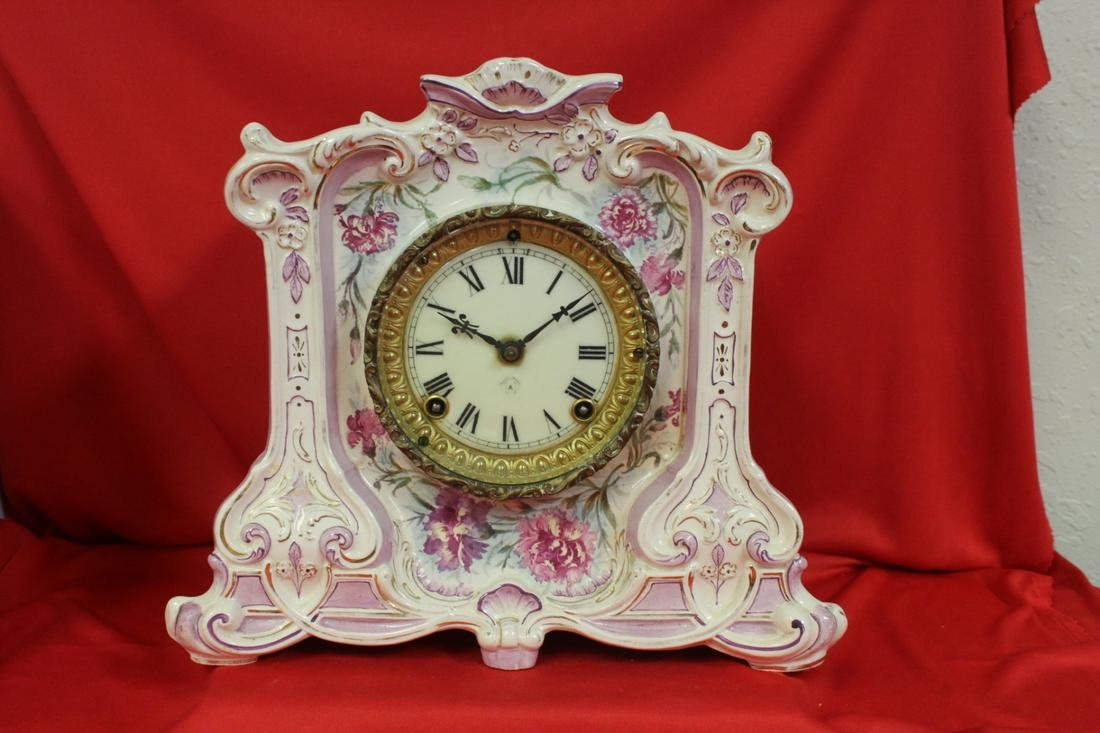 A Royal Bonn Porcelain Clock