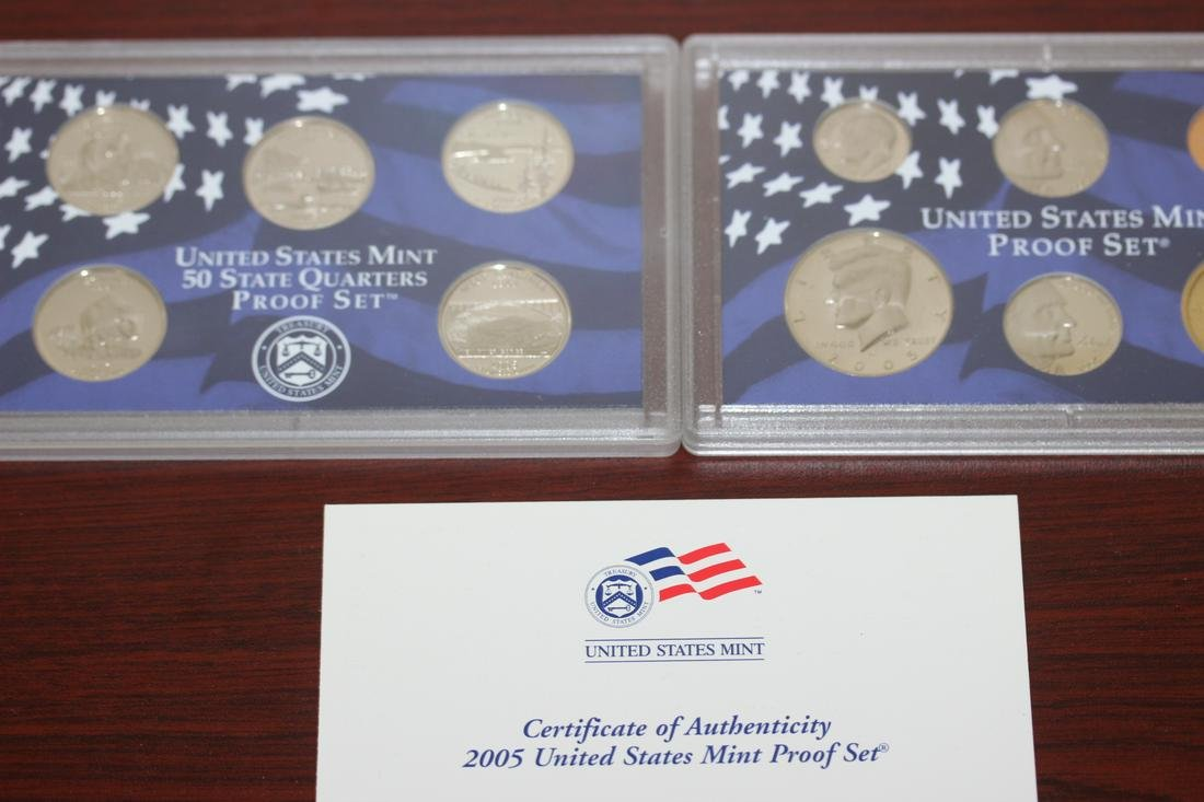 A 2005 US Mint Proof Set