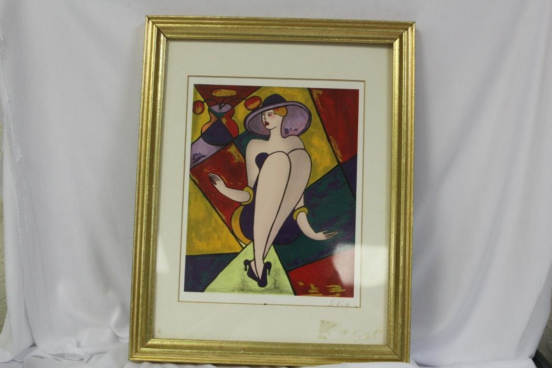 A Signed Linda Le Kniff Serigraph