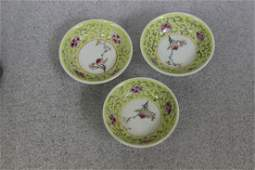 Set of 3 Vintage Chinese Sauce Dishes