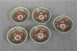 Set of 5 Vintage Chinese Sauce Dishes