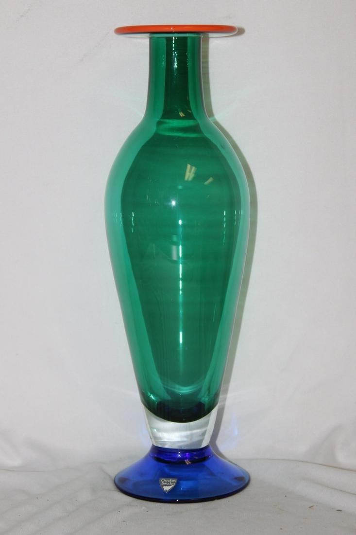 A Signed Orrefors Art Glass Vase